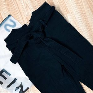 SHEIN • High Waisted Belted Skinny Jeans